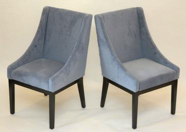 Contemporary microfiber modern chair set