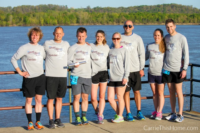 Our River to River relay race team