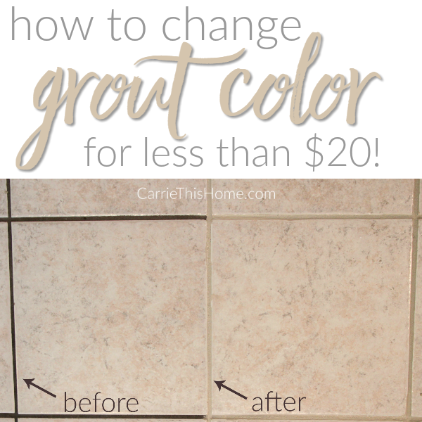 How to change grout for cheap!