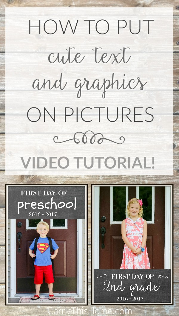 This super helpful video will show you how to put text and graphics on pictures in minutes using a free program