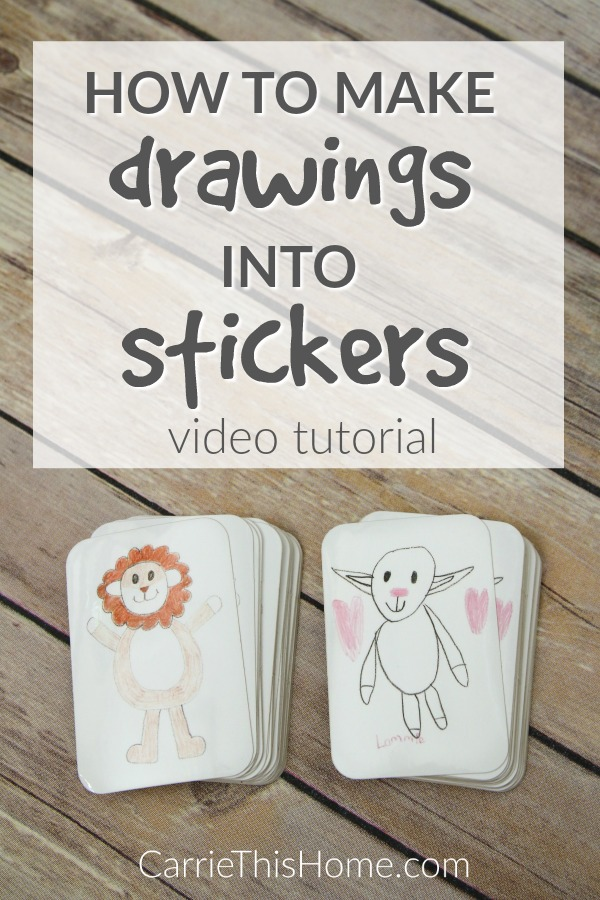 Turn your child's masterpieces into stickers this quick video will show you how to make drawings into stickers in just minutes plus for a limited time you can get 20 off your order ad