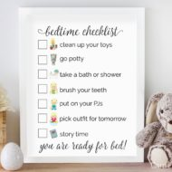 Free Bedtime Checklist Printable