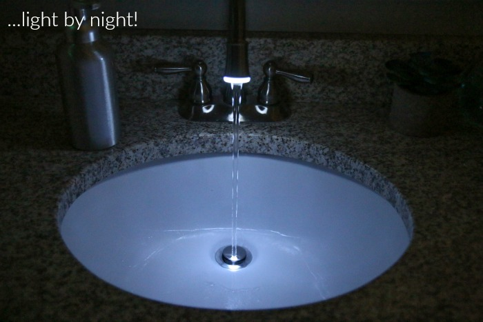 This LED nightlight faucet is awesome!