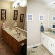 Budget Modern Farmhouse Master Bathroom Makeover