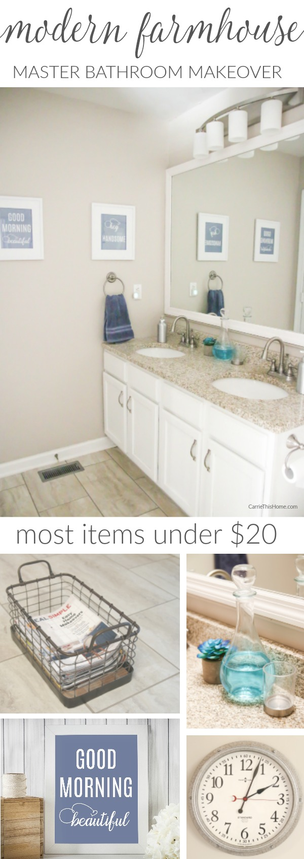 Get the modern farmhouse look on a budget! from CarrieThisHome.com